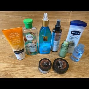 Lot of hair and body products